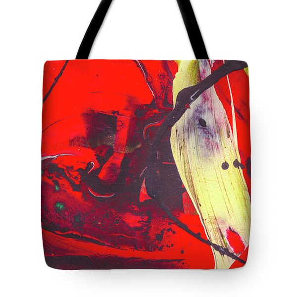 Happy Cow -  Cute Abstract Animals Art Tote Bag