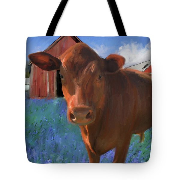 Happy Cow West Marin  Tote Bag