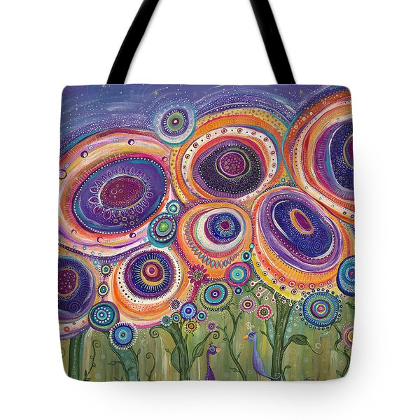 Tote Bag featuring the painting Happy Dance by Tanielle Childers