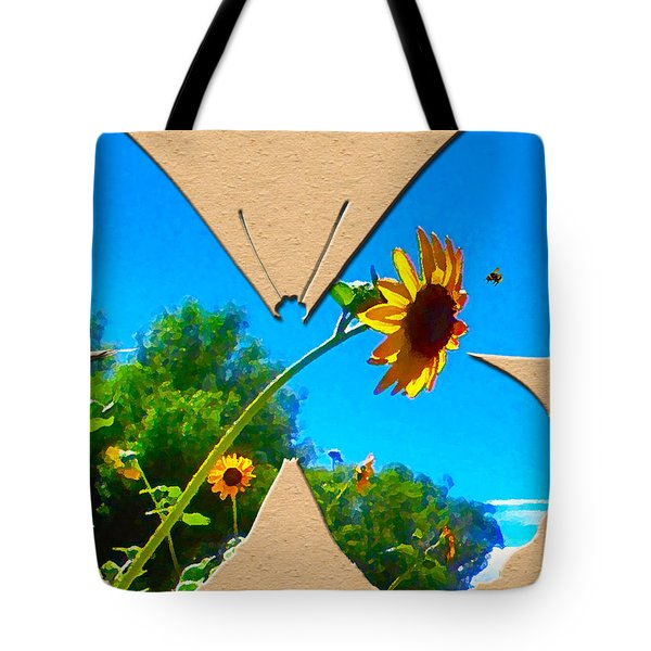 Happy Day Greeting Card Tote Bag by Adele Moscaritolo