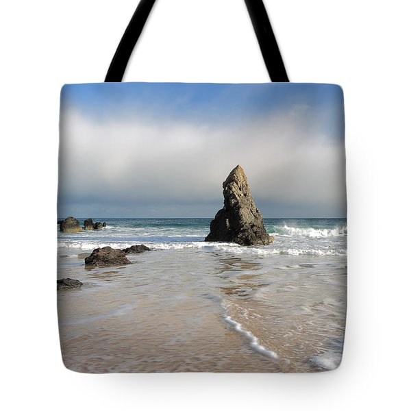 Happy Day On Sango Bay Tote Bag