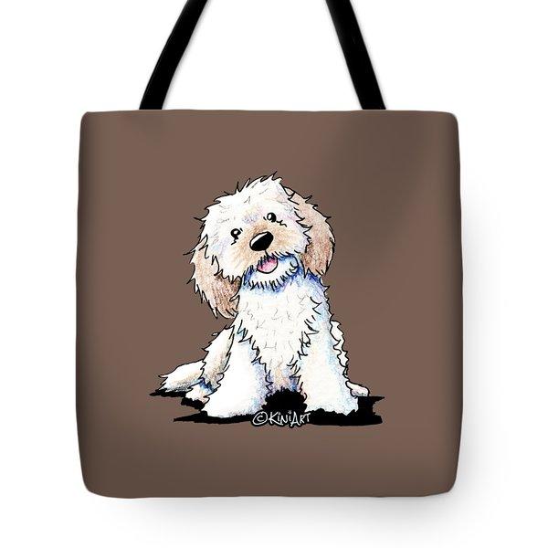 Happy Doodle Puppy Tote Bag