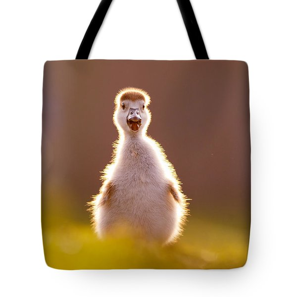 Happy Easter - Cute Baby Gosling Tote Bag