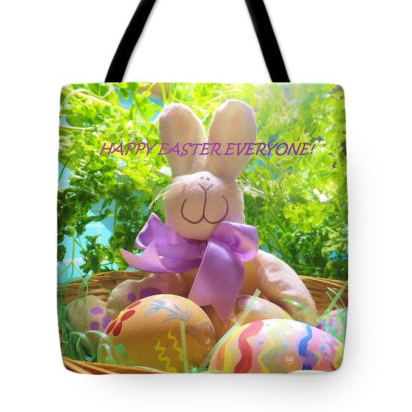 Happy Easter Everyone Tote Bag by Denise Fulmer