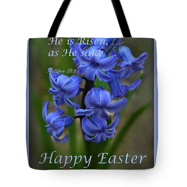 Tote Bag featuring the photograph Happy Easter Hyacinth by Ann Bridges