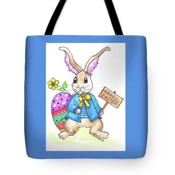 Tote Bag featuring the painting Happy Easter by Rosemary Aubut