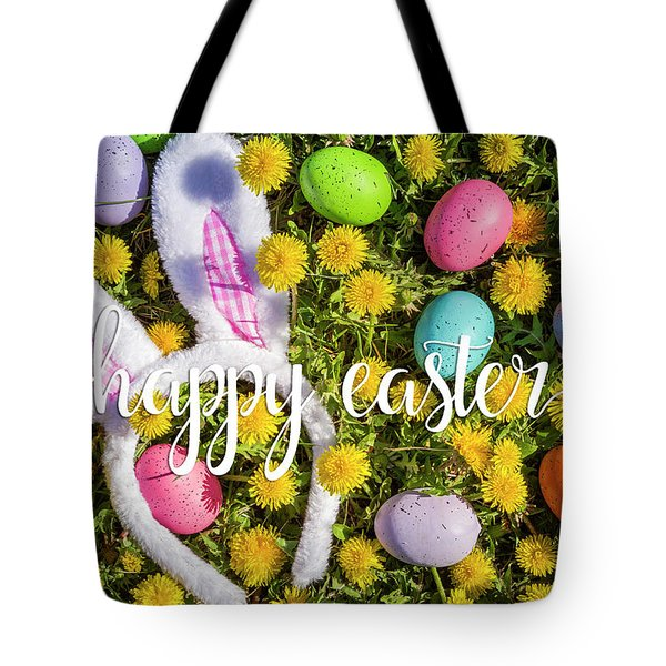 Tote Bag featuring the photograph Happy Easter by Teri Virbickis