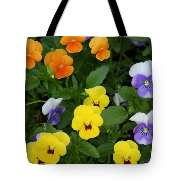 Tote Bag featuring the digital art Happy Faces by Barbara S Nickerson