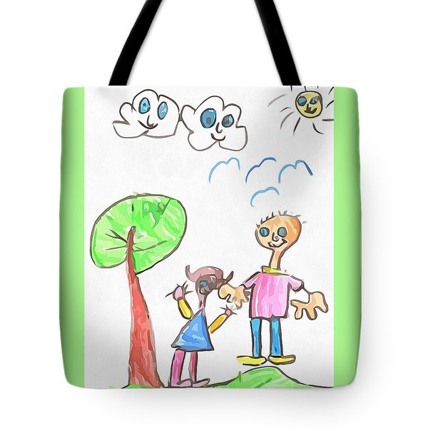 Happy Faces Tote Bag