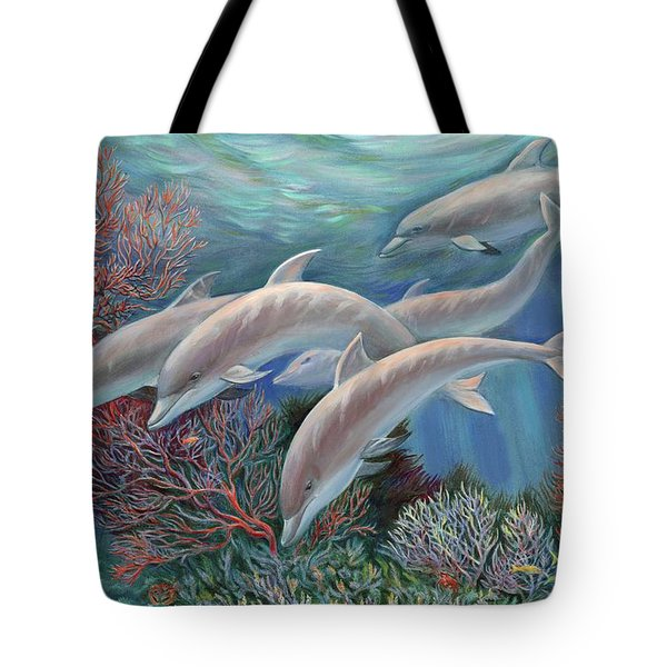 Happy Family - Dolphins Are Awesome Tote Bag
