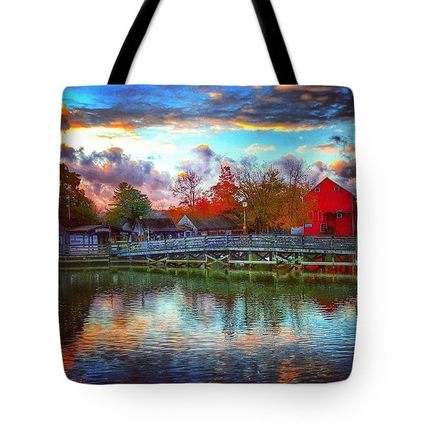 Reflections At Smithville Tote Bag