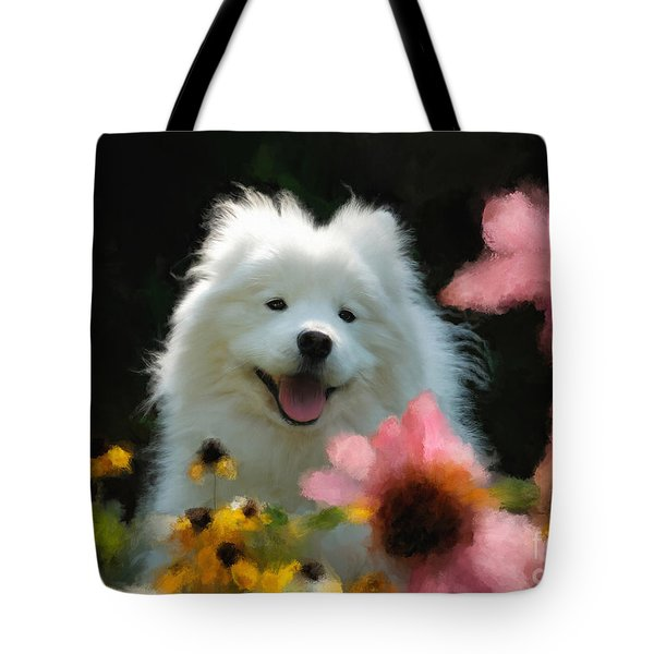 Happy Gal In The Garden Tote Bag