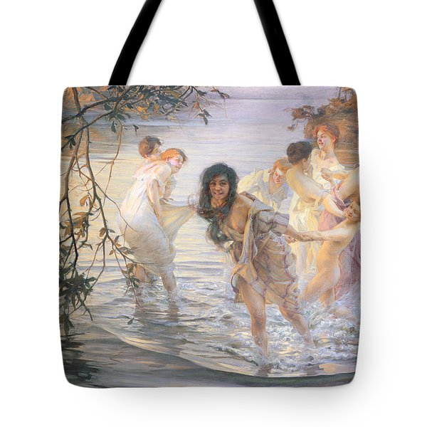 Happy Games Tote Bag by Paul Chabas