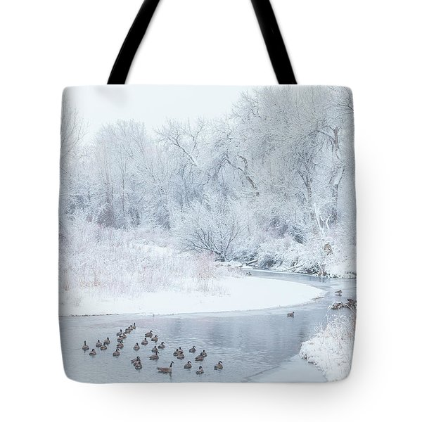 Tote Bag featuring the photograph Happy Geese by Darren White