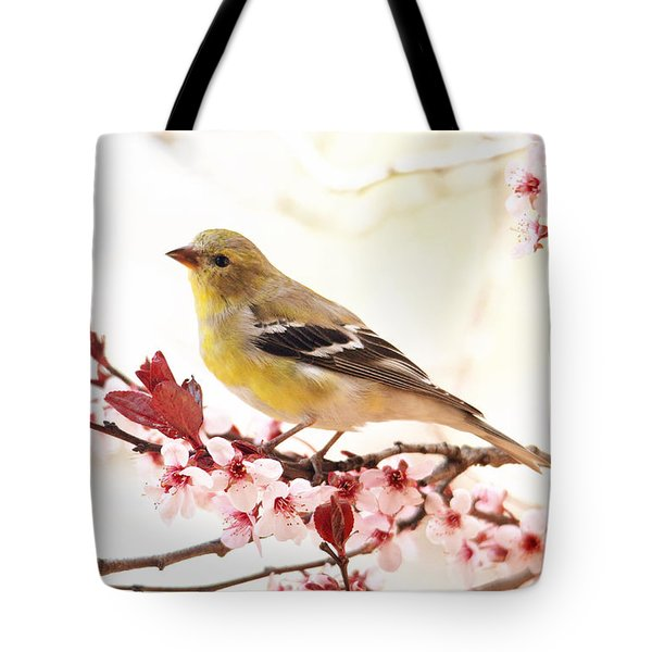 Happy Goldfinch Tote Bag