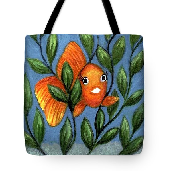 Happy Goldfish Tote Bag