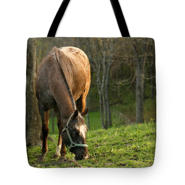 Tote Bag featuring the photograph Happy Grazing by Angela Rath