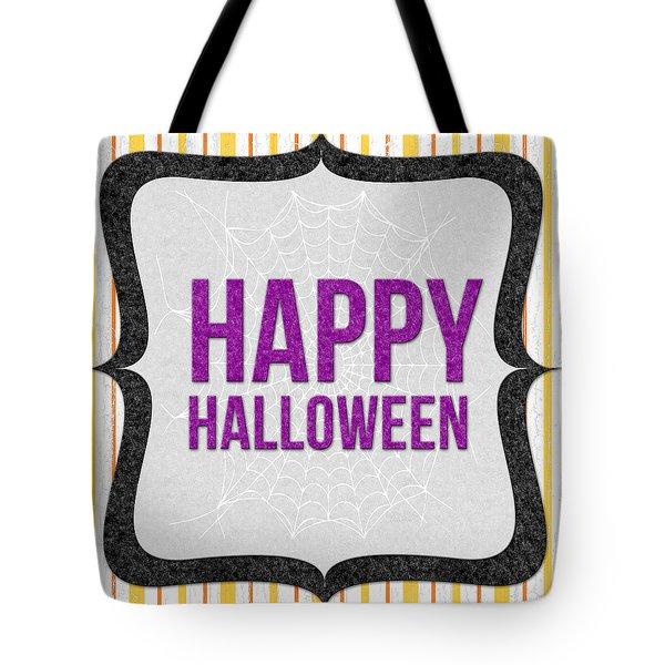 Happy Halloween-art By Linda Woods Tote Bag