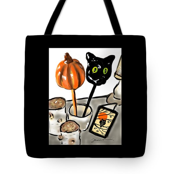 Happy Halloween Tote Bag by Jean Pacheco Ravinski
