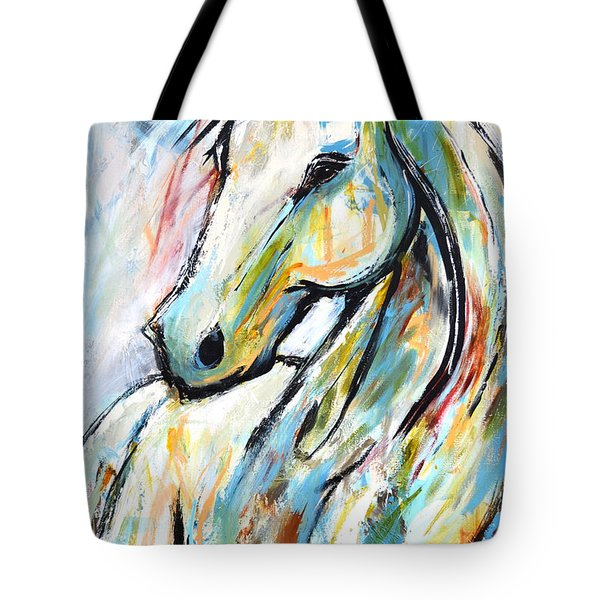 Tote Bag featuring the painting Happy Heart by Cher Devereaux