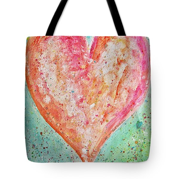 Happy Heart Tote Bag by Diana Bursztein