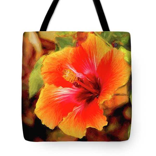 Happy Hibiscus Tote Bag