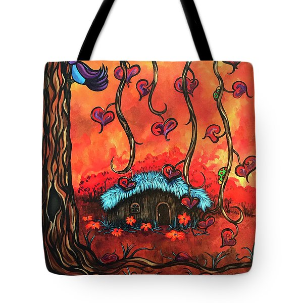Cabin In The Woods Tote Bag by Dani Abbott