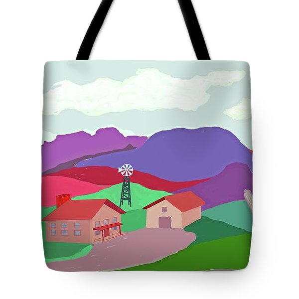 Happy Highland Farm Tote Bag by Fred Jinkins