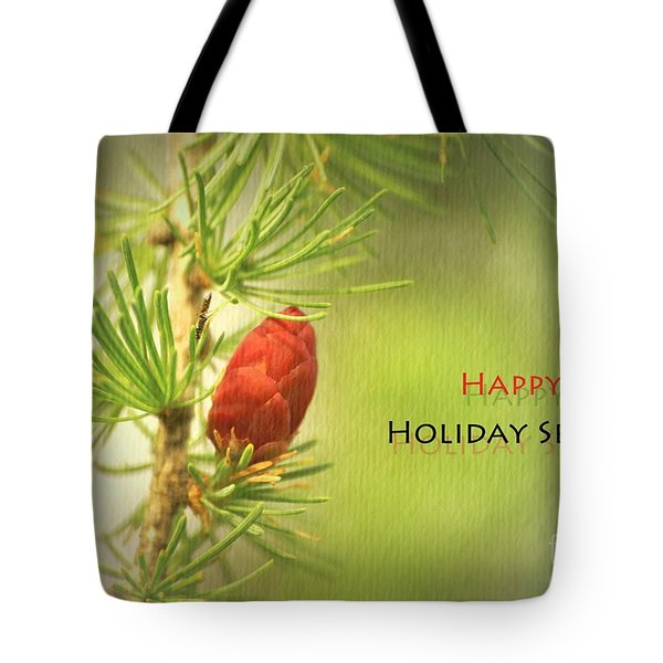 Happy Holiday Season Card Tote Bag by Aimelle