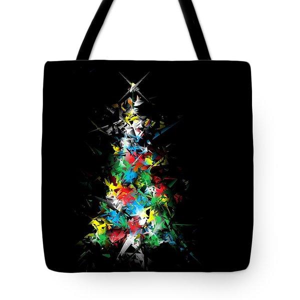 Happy Holidays - Abstract Tree - Horizontal Tote Bag