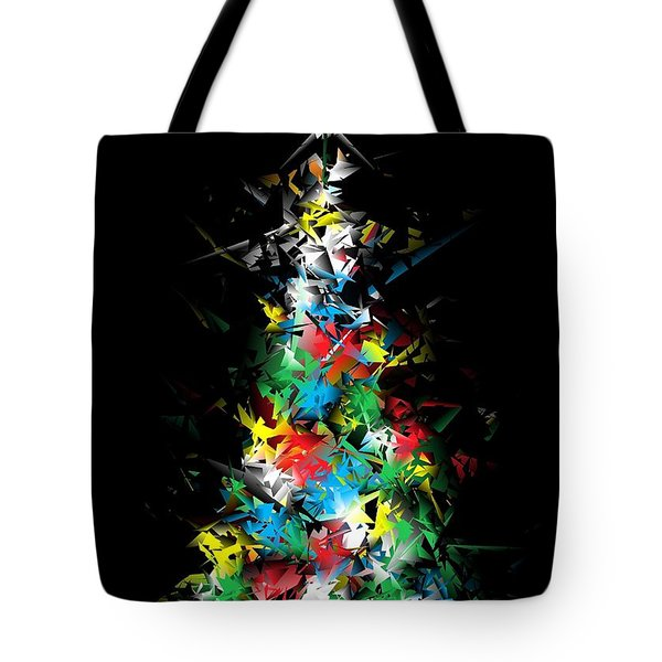 Happy Holidays - Abstract Tree - Vertical Tote Bag