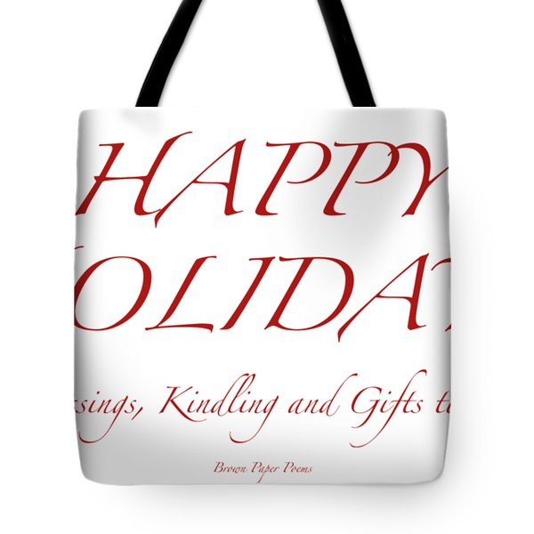 Happy Holidays - Day 8 Tote Bag
