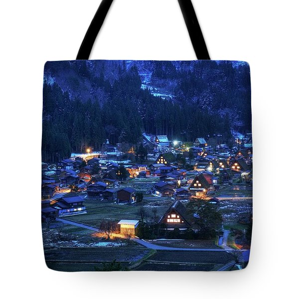 Tote Bag featuring the photograph Happy Holidays From Japan by Peter Thoeny