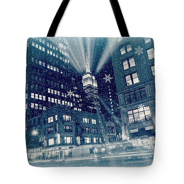 Happy Holidays From New York City Tote Bag
