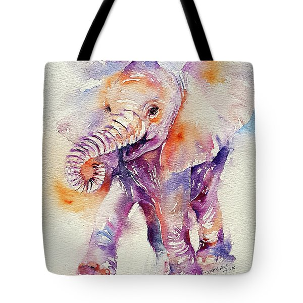 Happy Holly Baby Elephant Tote Bag