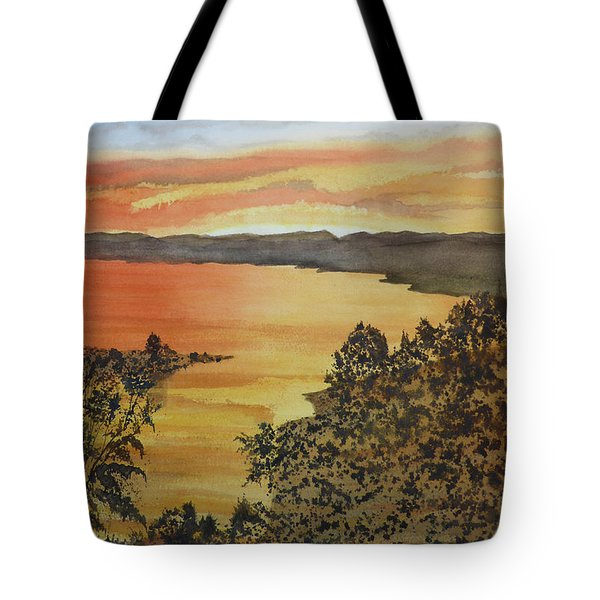 Tote Bag featuring the painting Happy Hour by Joel Deutsch