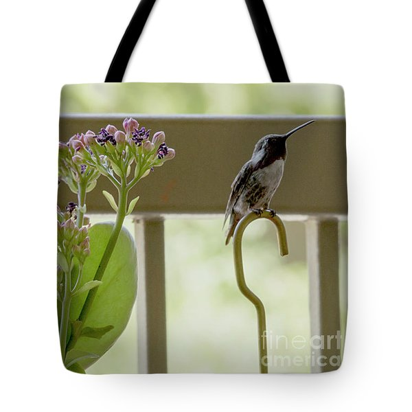 Happy Hummer Tote Bag by Anne Rodkin