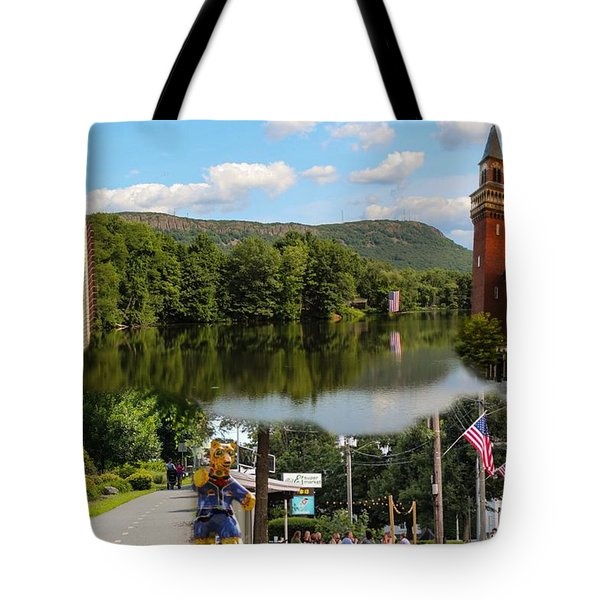 Happy In Easthampton Collage Tote Bag