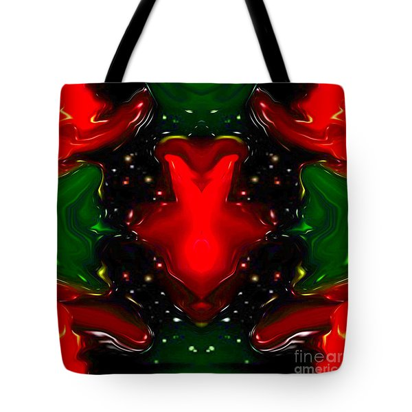 Tote Bag featuring the digital art Happy Inside by Gayle Price Thomas