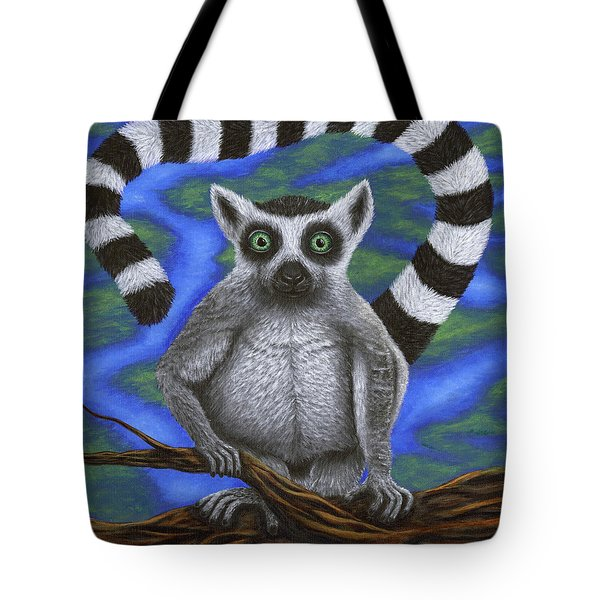 Happy Lemur Tote Bag