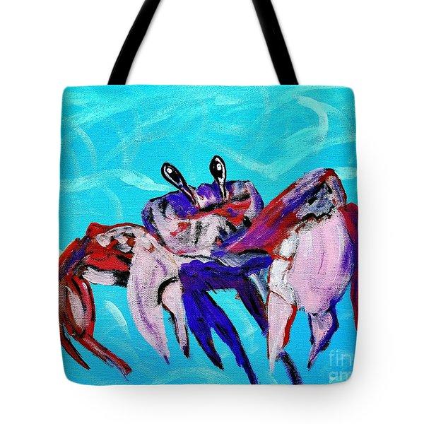 Happy Little Crab  Tote Bag by Scott D Van Osdol