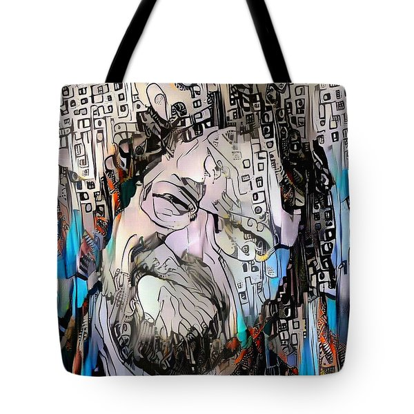 Happy Man's Face Tote Bag
