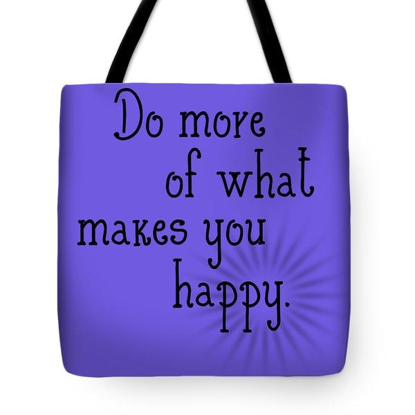 Text Art Happy Tote Bag