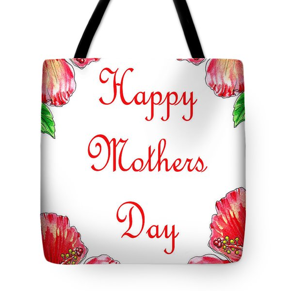 Happy Mothers Day Hibiscus Tote Bag