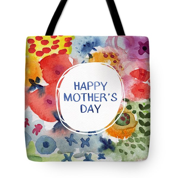 Happy Mothers Day Watercolor Garden- Art By Linda Woods Tote Bag