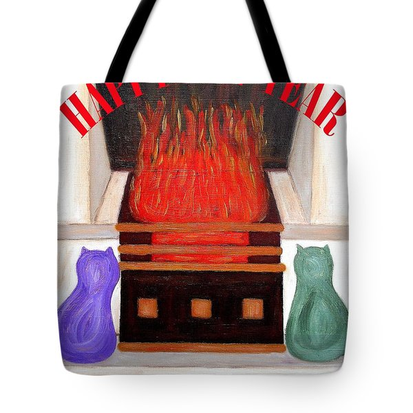 Happy New Year 2 Tote Bag by Patrick J Murphy