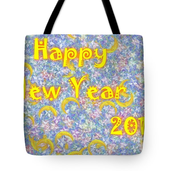 Happy New Year 2017 Tote Bag by Jean Bernard Roussilhe