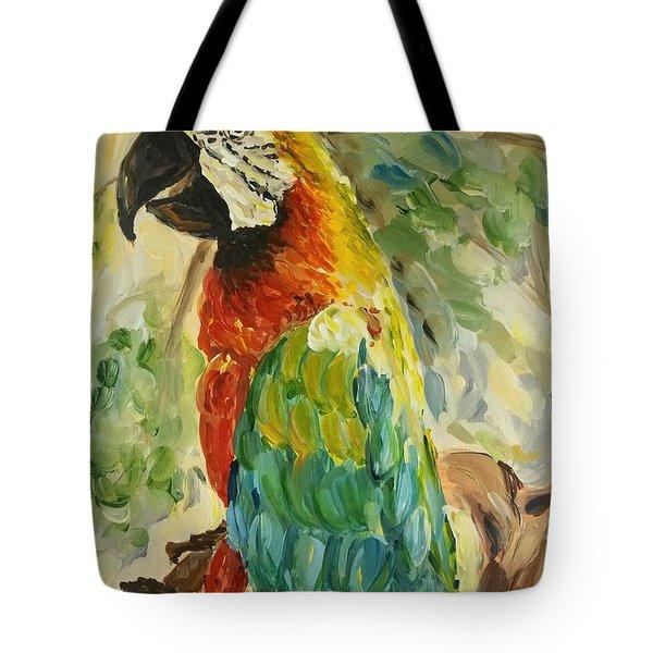 Happy Parrot Tote Bag