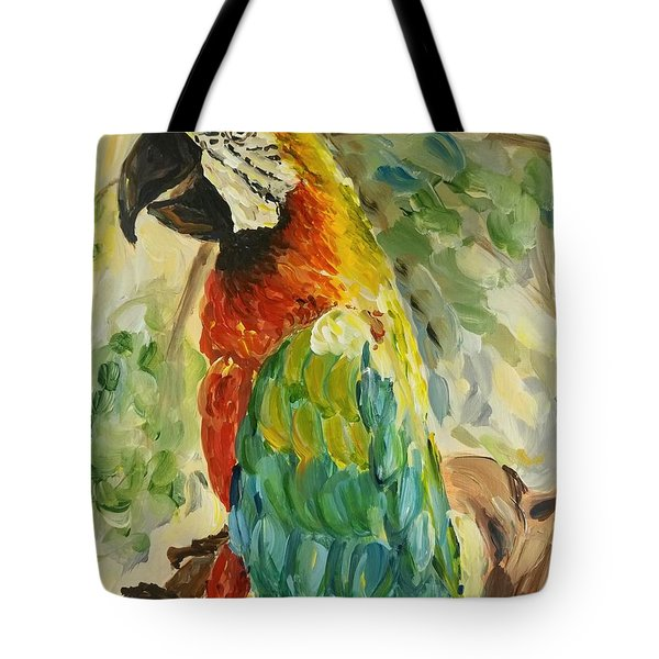 Happy Parrot Tote Bag