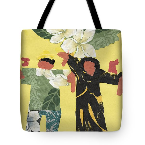 Happy People Tote Bag by Katie OBrien - Printscapes